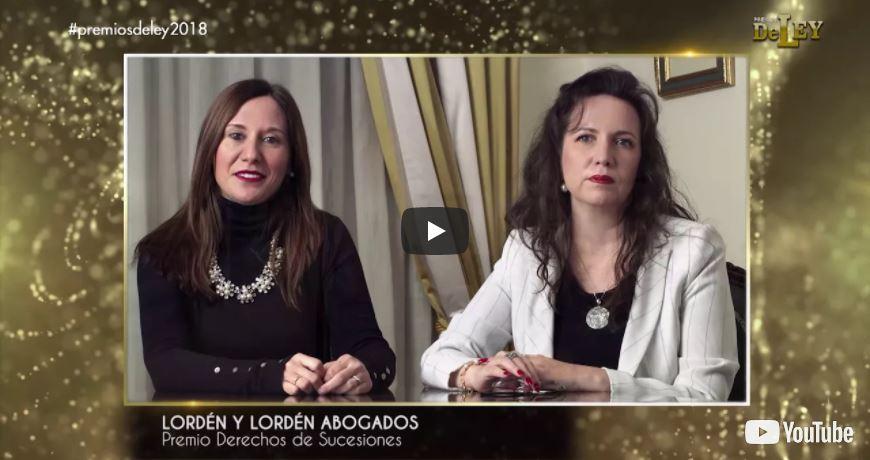 Video de entrega de LOS PREMIOS DE LEY 2018
